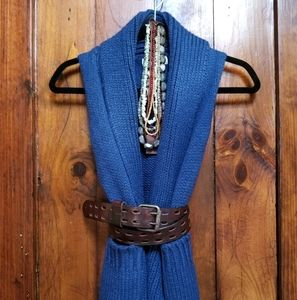 Poof Excellence! Blue Sleeveless Sweater